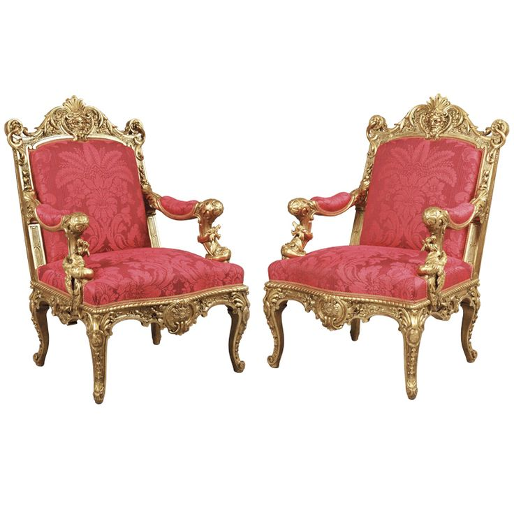1stdibs.com | A Magnificent Pair of Antique Armchairs  By Alexandre-Georges Fourdinois (France, 1850)