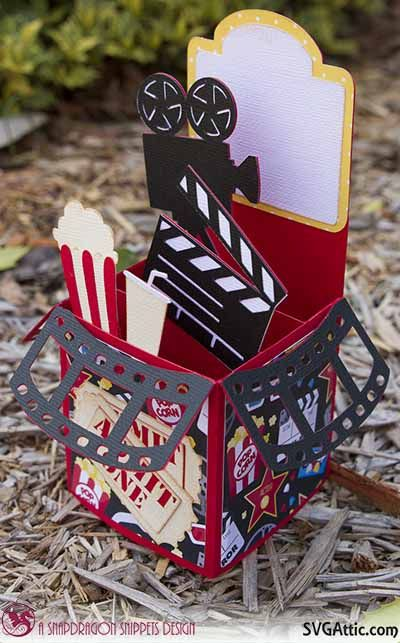 CG Box Cards movie box card #svg #svgattic