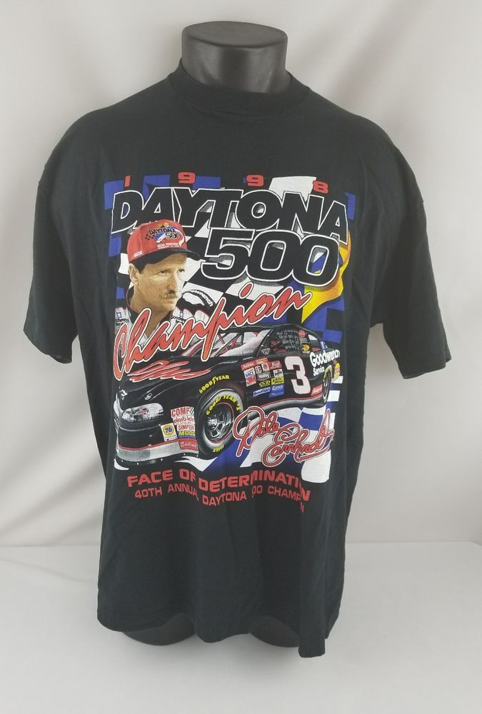 Dale Earnhardt 1998 Daytona 500 Champion Nascar 50th Anniversary Tshirt Adult XL | Clothing, Shoes & Accessories, Men's Clothing, T-Shirts | eBay!