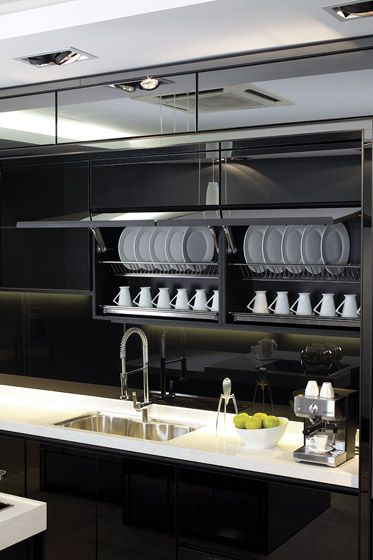 Timeless and modern #APRESI #Kitchen in Modern Black.  Contact us at (60) 7-353 7450 or http://www.apresi.com.my/contacts/