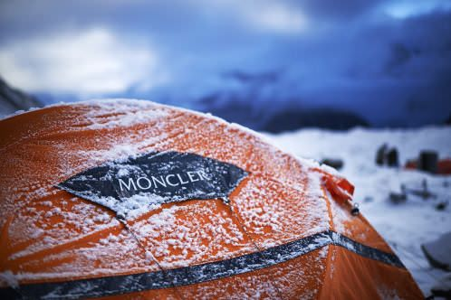 """Today, as in 1954, Moncler is supplying the """"K2 – 60 Years Later"""" expedition team with the technical equipment for the expedition celebrating the Italian conquest of K2 60 years on #moncler #K2 #lionelterray"""