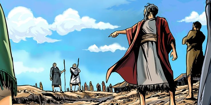 Corá desrespeita Moisés e Arão   História Bíblica Ilustrada