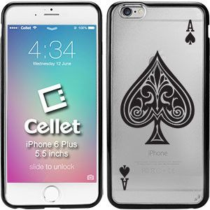 TPU / PC Proguard Case with Ace of Spades for iPhone 6 Plus