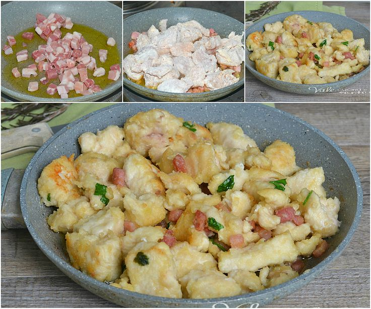 Chunks of chicken breast and bacon - Bocconcini di petto di pollo e pancetta