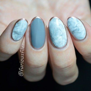 Stamper marble nail art by furiousfiler