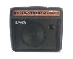 RMS Acoustic Multi Use Amp AC-40C. The RMS AC-40 40 Watt Acoustic Amplifier has a separate Microphone Channel and a Guitar Channel with Chorus and Reverb.You can also use this amp with Electric Guitars, Bass Guitars, Drum Machines, CD Players or any other preamped signal. Carpet Covering. #acoustic #guitar #amplifier