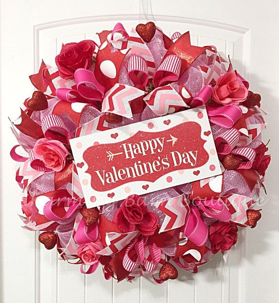 Valentines Day Wreath Valentines Wreath Happy Valentines Day