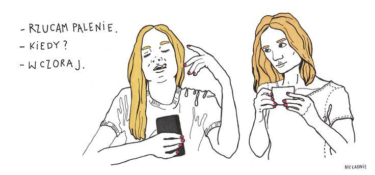 #niepalę #rzucam palenie #quit #smoking #hellyeah #nieładnie #nieladnie #nieladnierysuje #ilustracja #rysunki #kamila #szcześniak #illustration #drawing #sketching