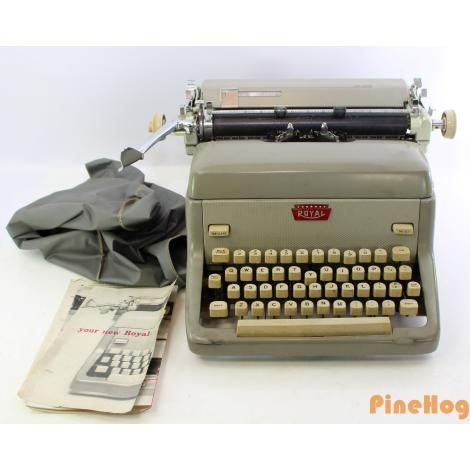 For Sale: Vintage Mid Century 1950s Royal FP Manual Typewriter Beige Antique
