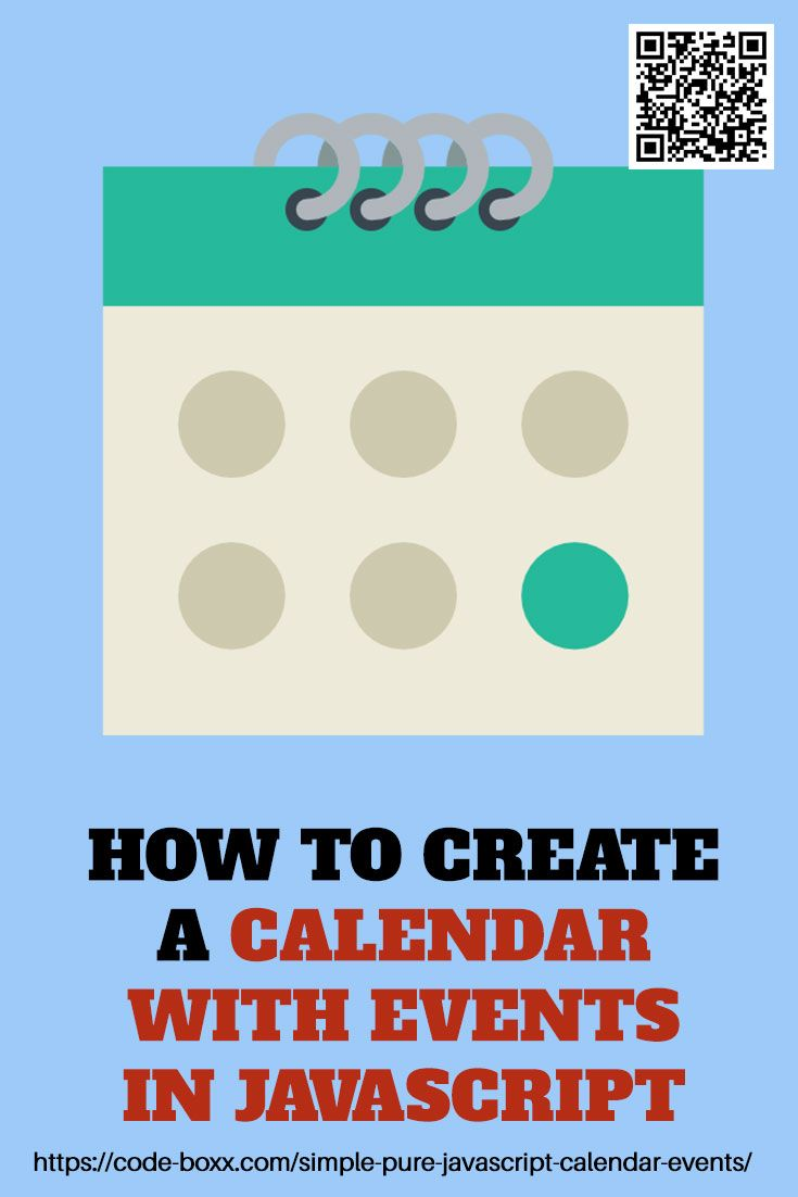 3 Steps Simple Pure Javascript Calendar With Events Learn