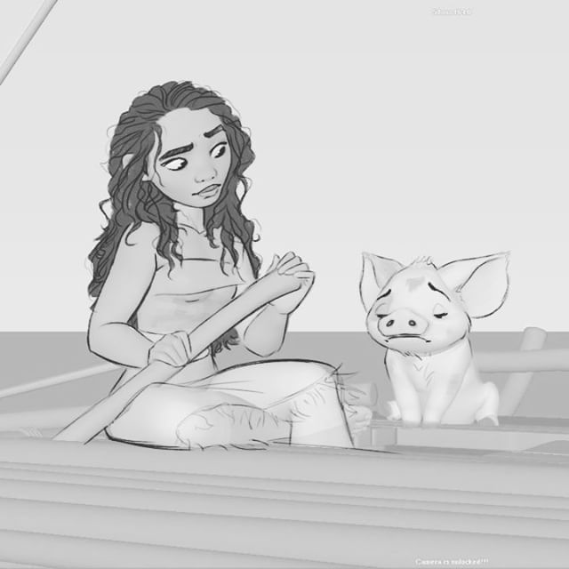 In the spirit of #drawingday I thought I would share this early animation test of Moana. Using drawovers,, I was able to get more performance out of the poses because at the time, her character rig wasn't finished. (Fine tuned face controls... hair. Cloth etc etc)This test was done as we were narrowing down who the voice of moana was going to be. (You can see how far we were with the design before casting Auli'i. This was the first time we heard Auli'i's voice with Moana's character in…