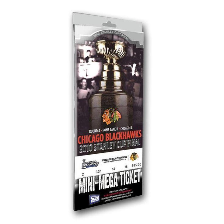 Mini-Mega Ticket - 2010 Stanley Cup Champions - Chicago Blackhawks