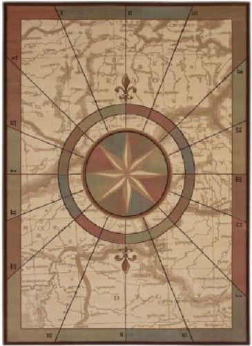 Elegant Nautical Voyages Area Rug Available In 4 Sizes; 2u0027x3,3u0027x5
