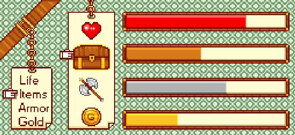 App UI design pixel game photoshop