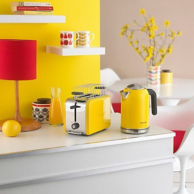 Kenwood kmix yellow kettle lifestyle shot