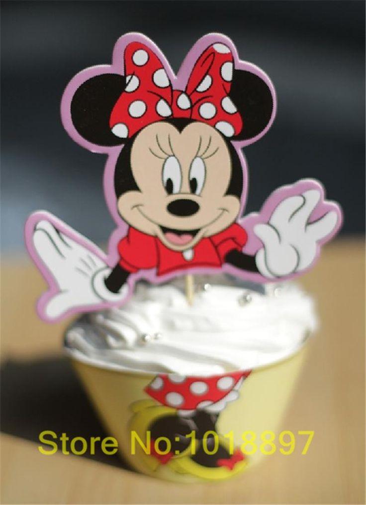 2014 новый минни маус кекс обертки и ботворезы выбирает на день рождения ну вечеринку благоприятствует поставок ( 60 шт. обертывания 60 цилиндры ) AW 0052 02 купить на AliExpress