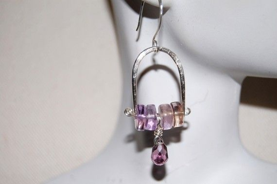 Shoply.com -Ametrine and purple crystal briolette earrings.. Only C$40.00