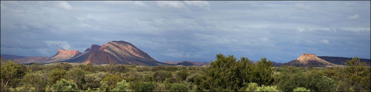 East Macdonnell Ranges, Undoolya, on a very cloudy New Year's Day 2016 panorama