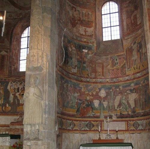 San Giovanni di Müstair. Affreschi Carolingi (830) e successivi.