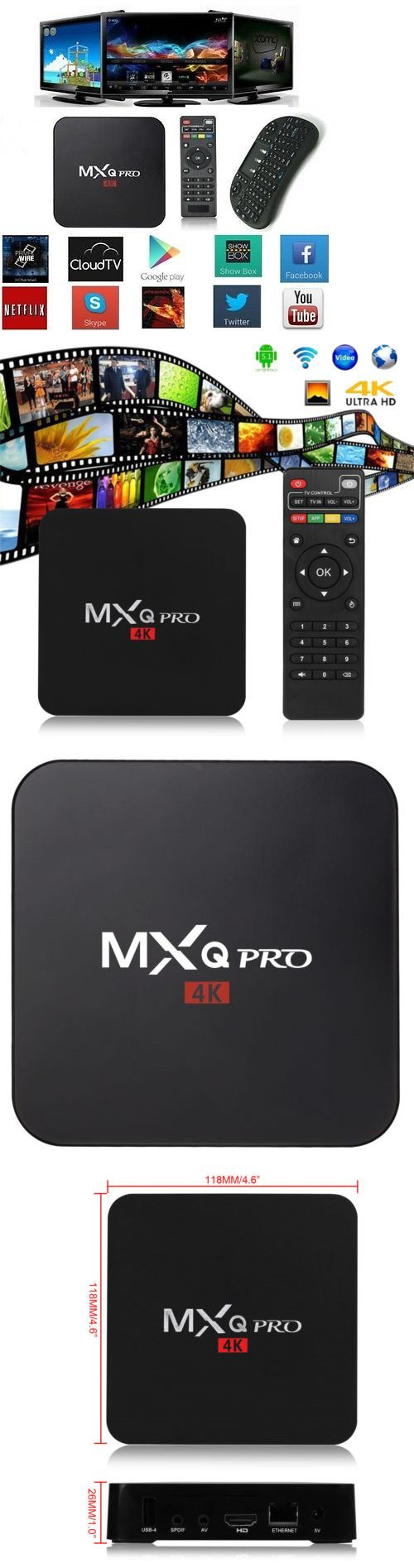 Cable TV Boxes: Mxq Pro 4K S905 Smart Tv Box 64Bit Quad Core Android 5.1 Free Movies 1G+8G Mouse -> BUY IT NOW ONLY: $45.43 on eBay!