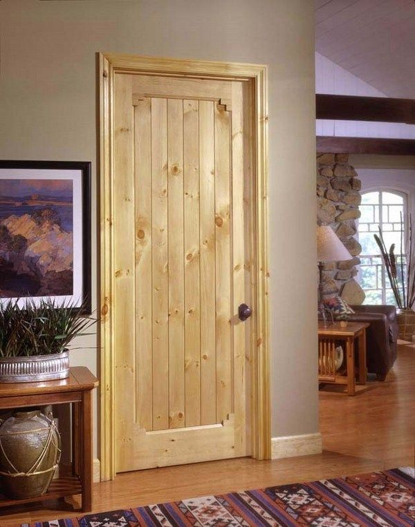 knotty pine interior door rustic home decor ideas solid wood doors