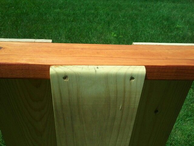 1x8 fence panel. Sanded & round the corners. Nice & comfortable when resting arms on fence while visiting neighbors