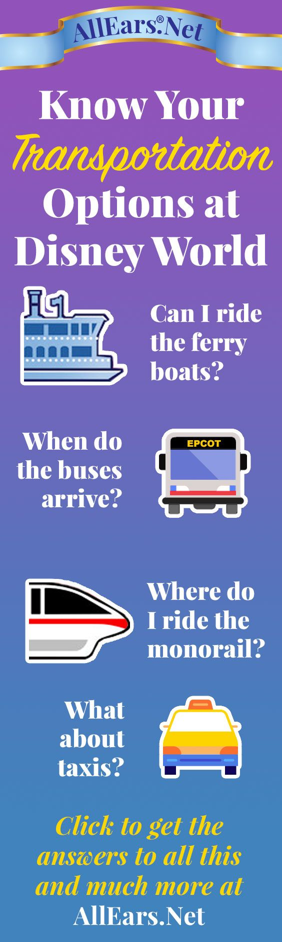 Know your Disney Transportation Options | Ferryboat | Bus | Monorail | Taxi | AllEars.net