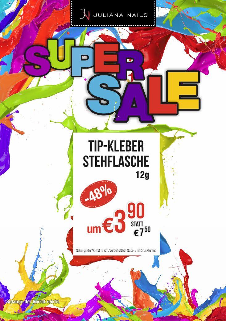 SUPER SALE - Tip Kleber Stehflasche 12g um € 3,90 statt € 7,50 (ab Montag, den 13. März 2017, solange der Vorrat reicht) https://juliana-nails.at/shop/product/tip-kleber-stehflasche-12g-6253?category=246