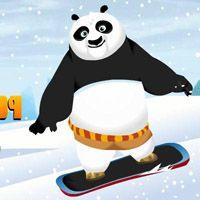 Игра Кунг-фу панда Неуклюжий сноубордист