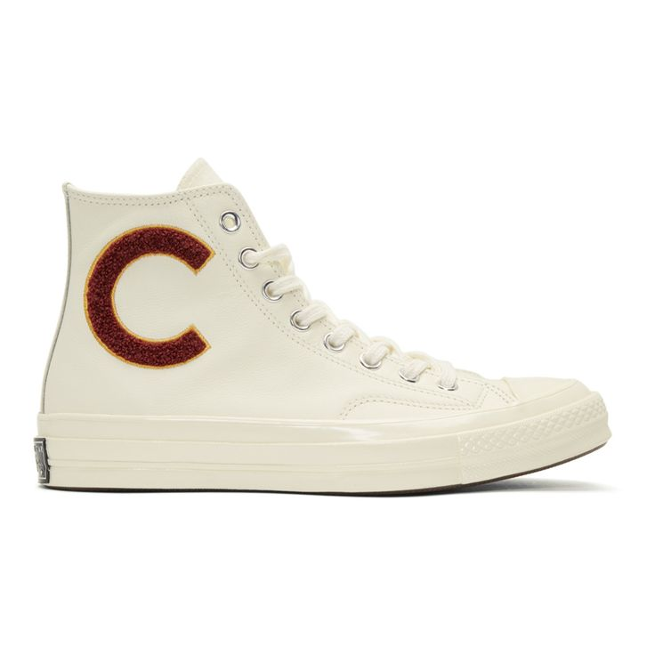 Converse - White Chuck Taylor All Star 70 Wordmark Wool High-Top Sneakers