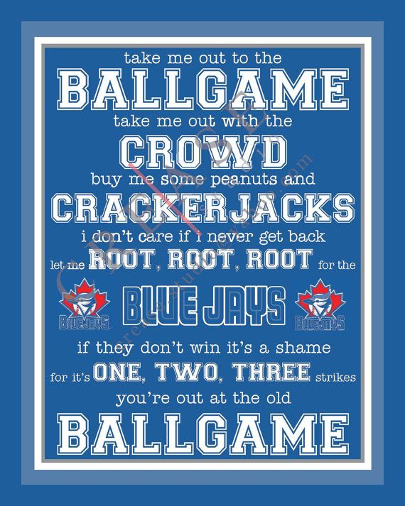 Toronto Blue Jays 'take me out to the ballgame by CreaseStudio, $8.00