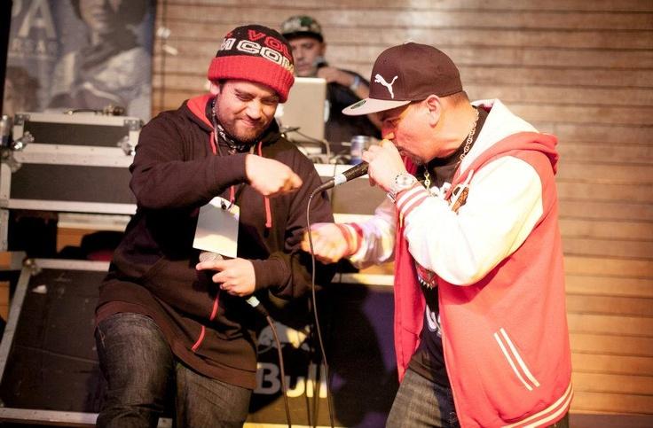 Con mi pana MC Nauck rockeando el MIC