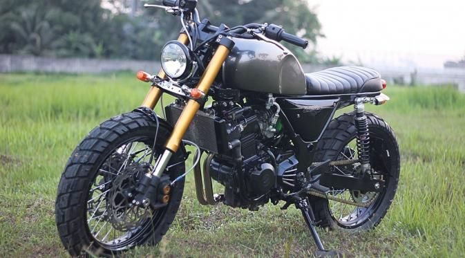 Kawasaki Ninja 250 ala 'Scrambler', Kaya Kesan Bad Boys! - Liputan6.com