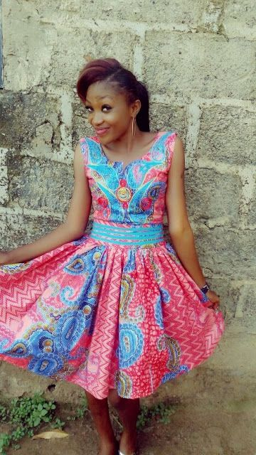 African Art Women Dresses Kitenge Image