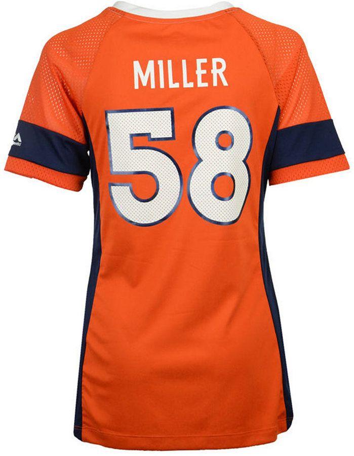 Majestic Women's Von Miller Denver Broncos 2017 Draft Him T-Shirt