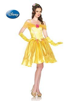 Adult Disney Princess Belle Costume | Cheap Fairytale Halloween Costume for Sexy