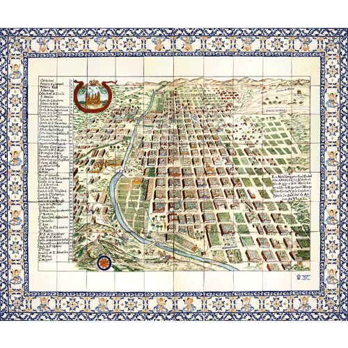 Mural Map of the City of Puebla in Colonial Times