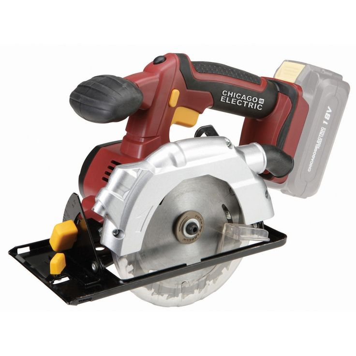 """Chicago Electric Power Tools 68849 18 Volt 5-1/2"""" Cordless Circular Saw with Laser Guide System"""