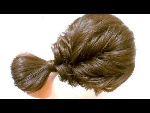 Easy Everyday Hairstyle with Trick : Messy Puff Hairstyles – #everyday #hairstyle #hairstyles #messy #trick