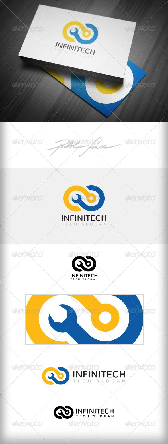 Infinity Computer Tech Support - Logo Design Template Vector #logotype Download it here: http://graphicriver.net/item/infinity-logo-computer-tech-support-logo/4908867?s_rank=217?ref=nexion