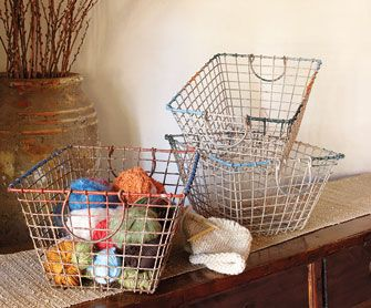 Vintage French Oyster BasketBaskets Traditional, Delight Decor, Vintage French, Style Design, Decor Accent, French Oysters, Napa Style, Oysters Baskets, Traditional Baskets