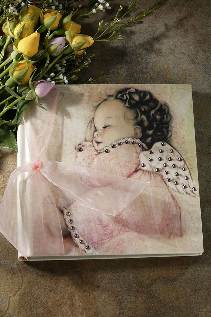 Pink Angel Baby Photo Album 7x7 – Celebrate Faith