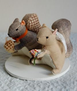 Free Pattern for Mr. Squirrel by Quirky Artist Loft.  7 piece pattern for stuffed animal.  Could be the needle / pin cushion saw on Etsy?