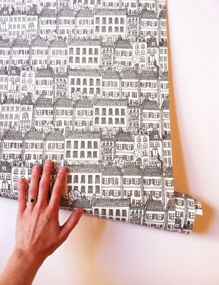 Townhouses Wallpaper by Kate Zaremba.jpg