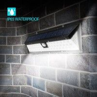 Home | Home & Living Accessories Solar Light LED Outdoor Solar Powered Wireless Waterproof Security Motion Sensor Wall Light for Patio, Deck, Yard, Garden, Driveway, Outside Wall with LED on both side w/ 3 Modes Motion Activated (Color: White)