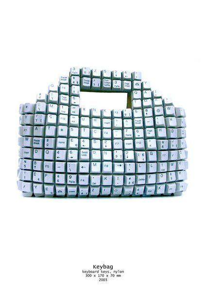 Handbag made from keyboard pieces!