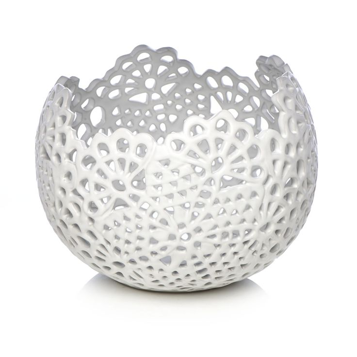 Wilko Decorative Lace Bowl White at wilko.com