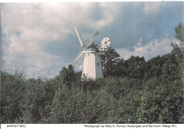 SCARCE POSTCARD - SHIPLEY MILL near STORRINGTON - SUSSEX C.1988