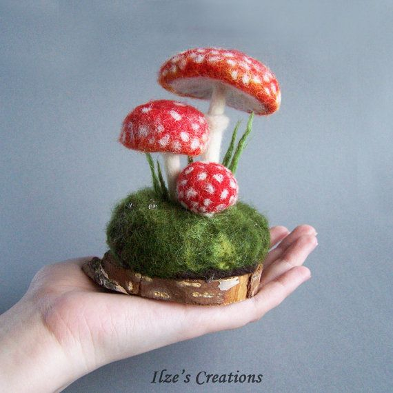 Mushroom Waldorf Woodland Autumn Fall Home Decoration Natural