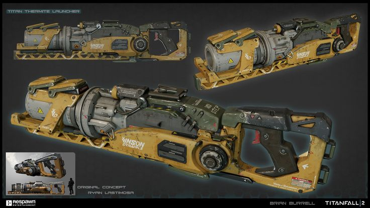 ArtStation - Thermite Launcher - Titanfall 2, Brian Burrell